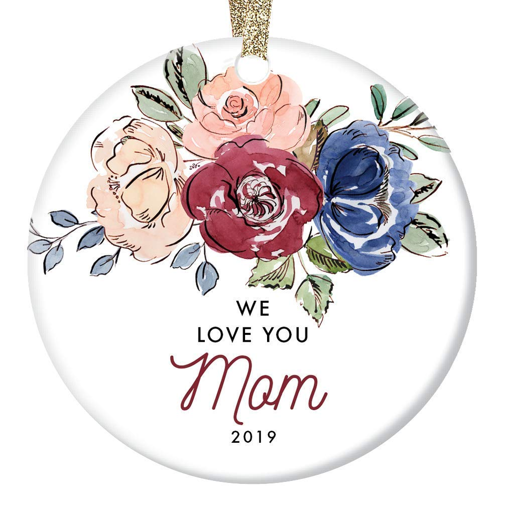 Amazon Com We Love You Mom Christmas Ornament Dated 2019 Family