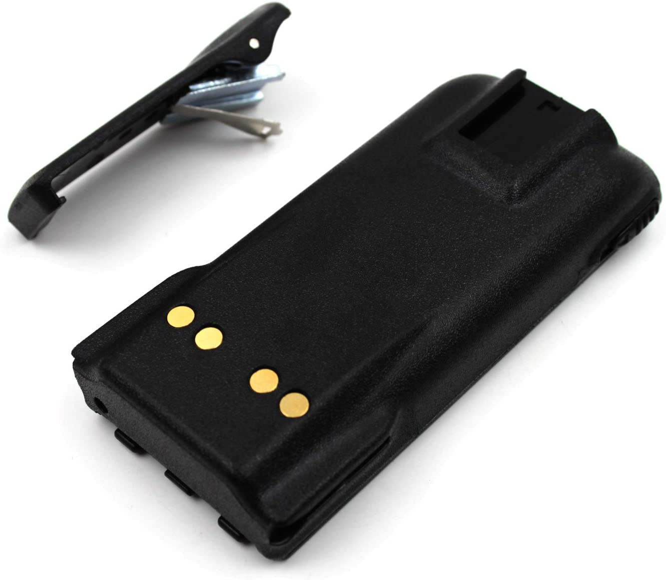 2-Pack 7.5V 2100mAh Ni-MH Two-Way Radio Battery for Motorola NTN9815//A//AR//B NTN9858//A//AR//B//C XTS1500 XTS2500 PR1500 MT1500 with Belt Clip