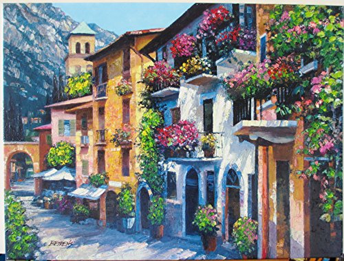 - Howard Behrens Village Hideaway Heavily Texturized Giclees on Stretched Canvas