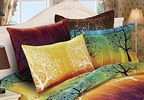 Elegant Rainbow Tree Pillow Shams (King) - Rainbow Tree Duvet Cover