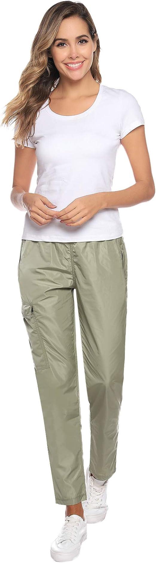 Abollria Unisex Outdoor Lightweight Hiking Waterproof Rain Pant Quick Dry Pants for Men//Women