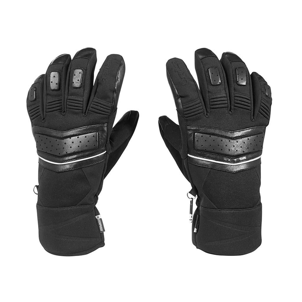 HU Lederhandschuhe Outdoor Herbst und Winter Skifahren Mountain Riding Wasserdichte warme und dauerhafte Handschuhe für Erwachsene