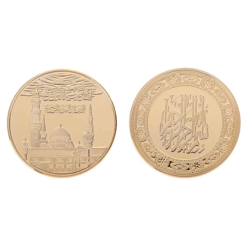 Wanfor Challenge Coin ,Coin Collection Gold Plated Saudi Arabia Commemorative Challenge Coin Collection Token Souvenir,Suit for Arts,Collection,Bussiness Gifts and Commemoration