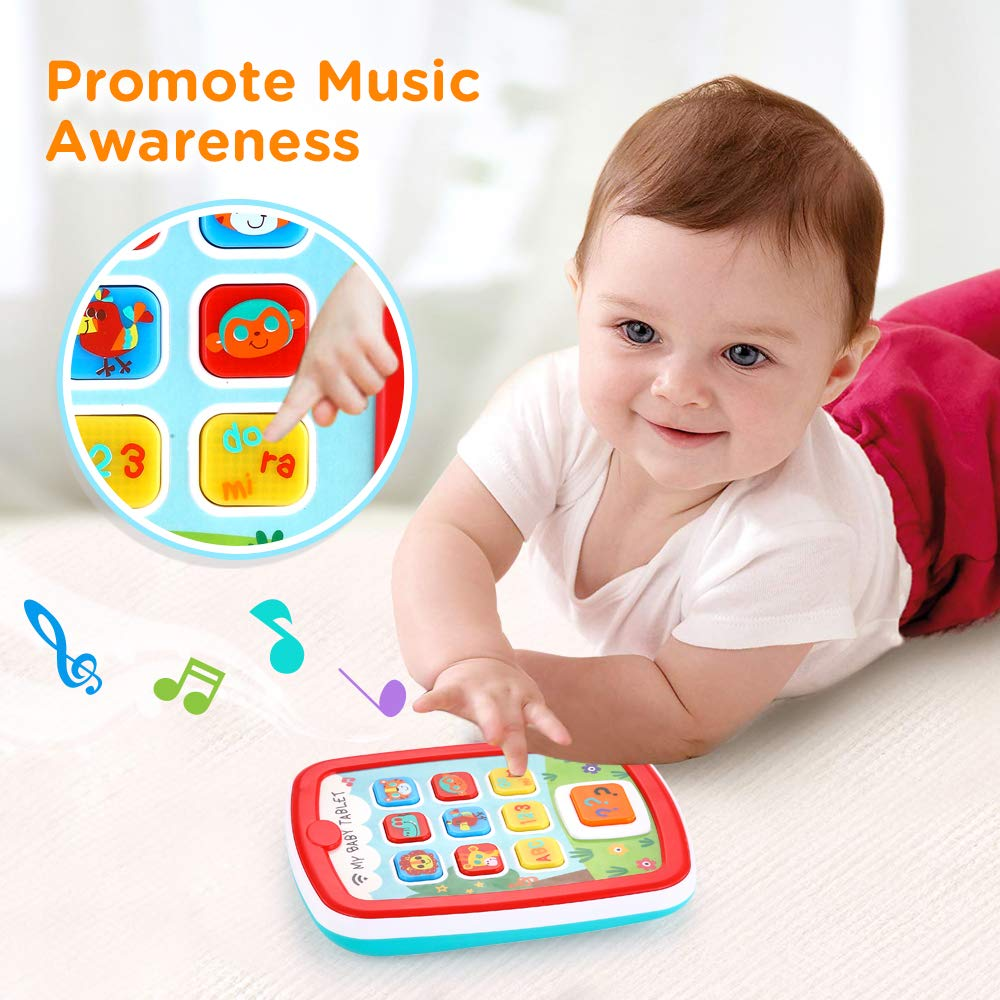 Toddler Learning Tablet for 1 Year Old, VATOS Baby Ipad for 6M -12M -18M+ with Music & Light, Travel Toy Tablet with Easy ABC Toy, Numbers & Color   My First Learning Tablet by VATOS (Image #2)