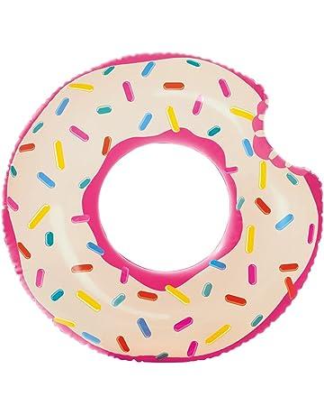 Intex 56265NP - Rueda hinchable Donut de fresa 107 x 99 cm