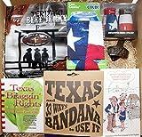 Texas Grilling/Cook-Off Gift & Snack Box - Texas Bandana, Texas Can Cooler, Teriyaki Beef Jerky, Bottle Opener, Salt & Pepper Shakers, Texsuns Tawk Funny Booklet & Texas Braggin' Rights Cookbook