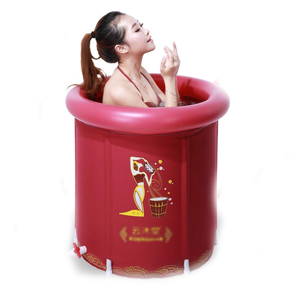 AJZGF Aufblasbare Falt-Badewanne, Tragbare Badewanne, Dickere Isolierung Erwachsene Familie Spa Kinder Anti-Rutsch-Schwimmbad Badewanne (Farbe   One)