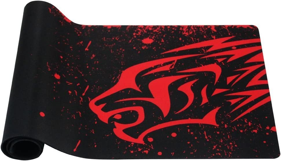 EXCO Dick Smooth extra grande XL Gaming Matte superficie lisa para ratón de Comfortable Mouse Pad Superfine Fiber Surface Smooth Silk, color XL Red Leopard