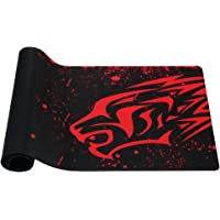 Exco Red Leopard Extra Long Large XL Gaming Desk Mat Smooth Surface Non-Slip Rubber Mouse Pad Mat with Designs for Office and Gamers
