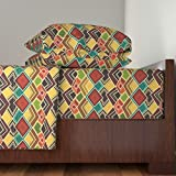 Roostery African 3pc Sheet Set Raffia by Scrummy Twin Sheet Set made with
