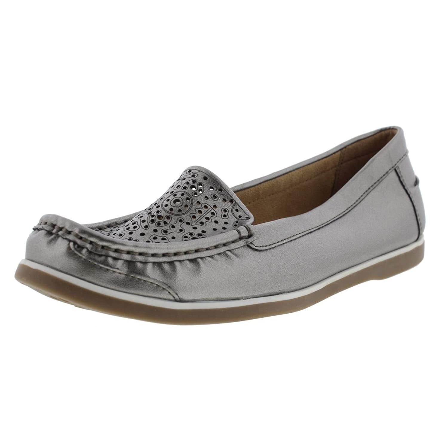 Naturalizer Women's Hooper, Pewter Loafers