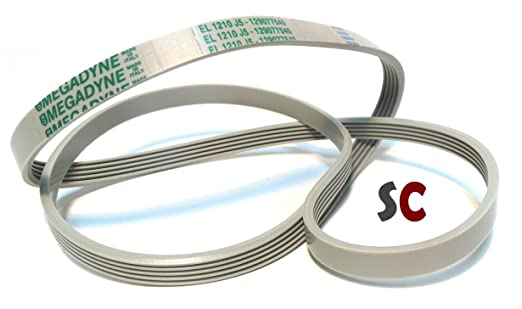 SoloCorreas Megadyne - Correa de Lavadora EL 1230 J5 (416002803 ...