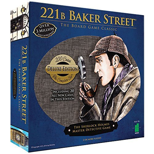 Deluxe 221B Baker Street Board Game - 200 Intriguing Adventures 2-6 Players by JOHN N HANSEN COMPANY