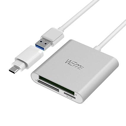 weme aluminio USB 3.0 CF/SD/TF lector de tarjetas Micro SD con ...