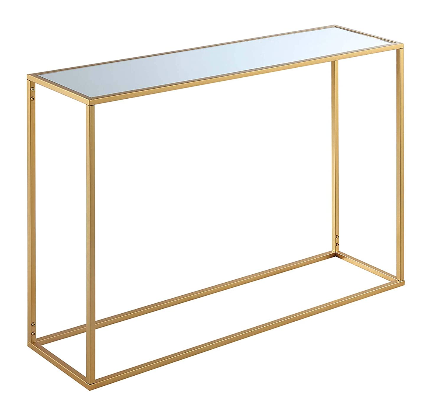 Convenience Concepts 413499MRG Gold Coast Mirrored Console Table, Frame