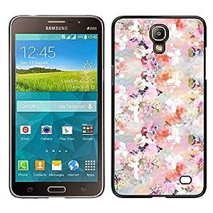 Caucho caso de Shell duro de la cubierta de accesorios de protección BY RAYDREAMMM - Samsung Galaxy Mega 2 - Flores Flores Blanco Rosa Wallpaper