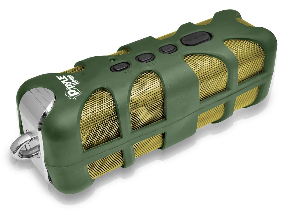 Pyle Sound Box Splash Rugged and Splash-Proof Bluetooth Marine Grade Portable Wireless Speaker (Green) (Discontinued by Manufacturer) Sound Around PWPBTA70GN