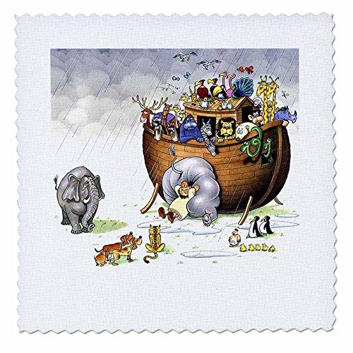 Biblical - Noahs Ark - 10x10 inch quilt square -