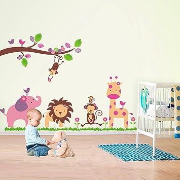 walplus fuloon stickers autocollant animaux jungle dcal dco art maison chambre enfant
