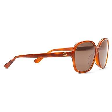 4f48586eaaa162 Amazon.com: Gucci Women's Tortoise GG 3834/F/S Brown Lens Sunglasses ...