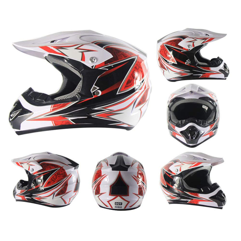 Adult Off-Road Helm DOT Off-Road Motocross ATV Motocross (S, M, L, XL),S