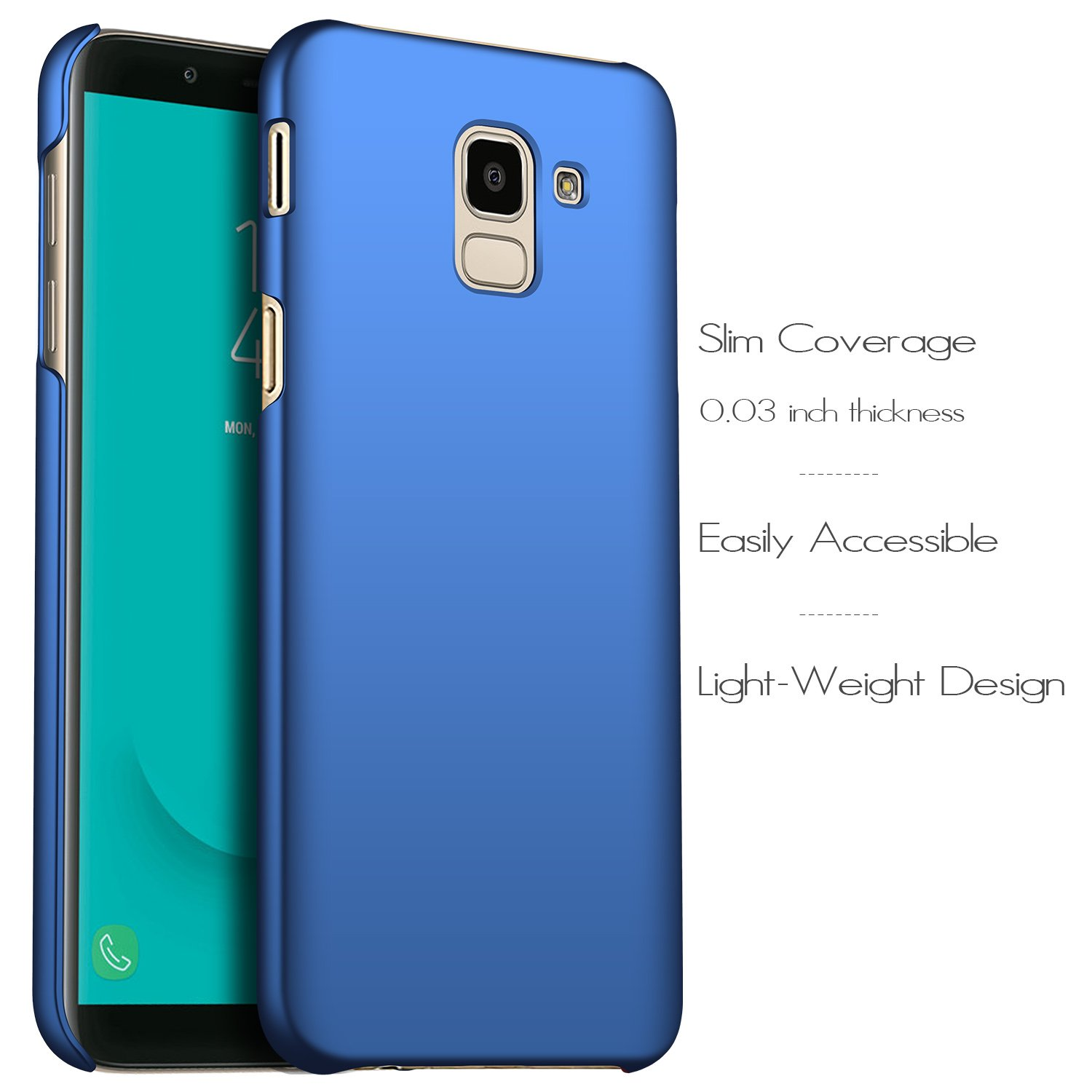 anccer Compatible for Samsung Galaxy J6 2018 Case [Colorful Series] [Ultra-Thin] [Anti-Drop] Premium Material Slim Cover for Samsung Galaxy J6 2018 ...