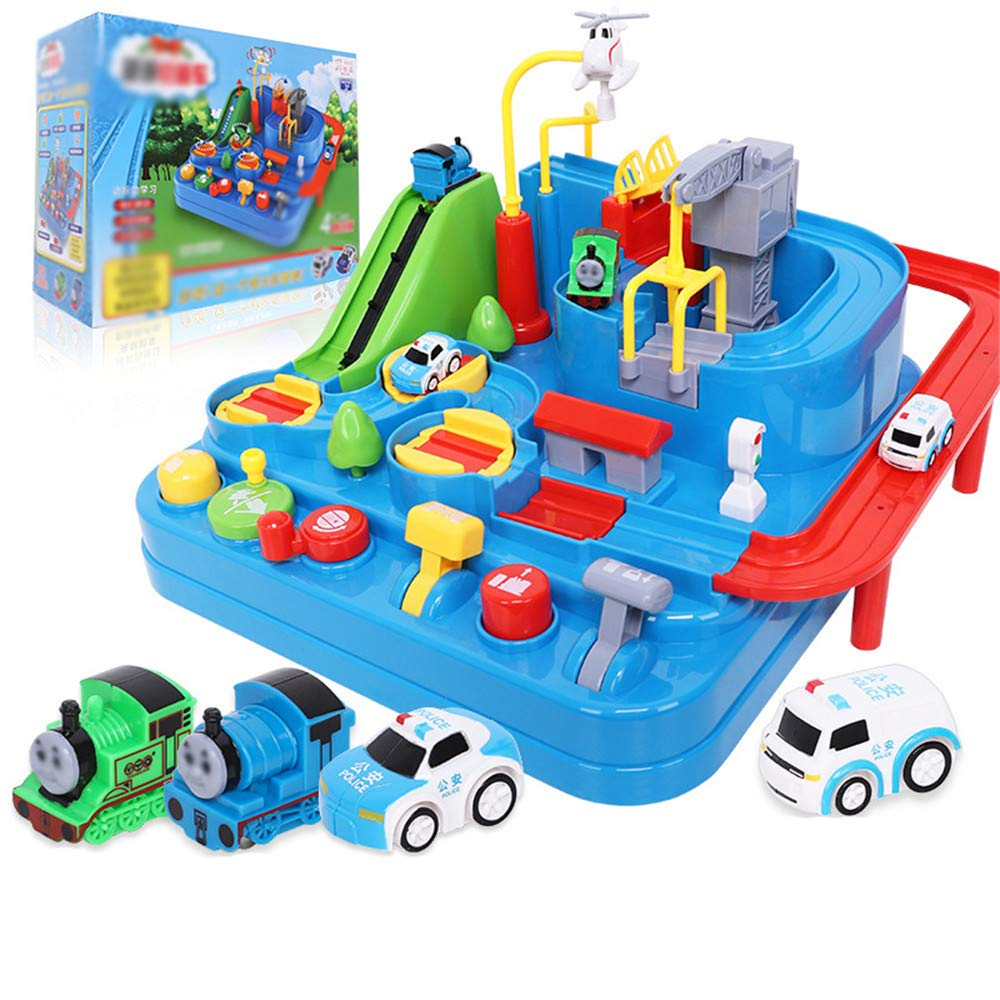 Children Early Education Toy Small Train Children Suit Adventures in Rail Cars Car Recruit Educational Toys Suit Boys were 3 Years Old Toy for Boys and Girls