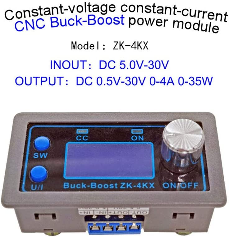 qiulip ZK-4KX CNC DC-DC Buck Boost Converter Module CC CV 0,5-30V 4A Spannungsregler