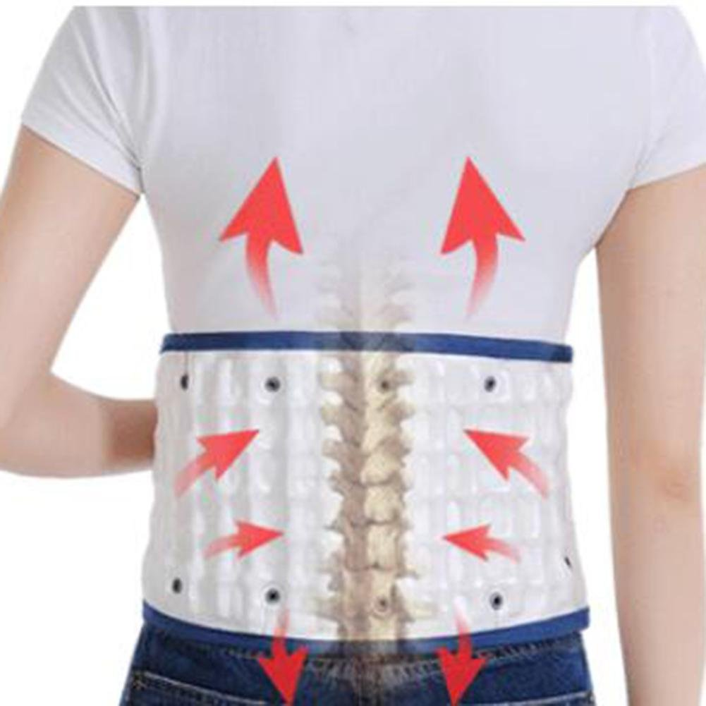 LPY-Lumbar Support Lumbar Disc Herniation Massager Spinal Air Traction Air Wave Back Belt , A by Waist support (Image #4)