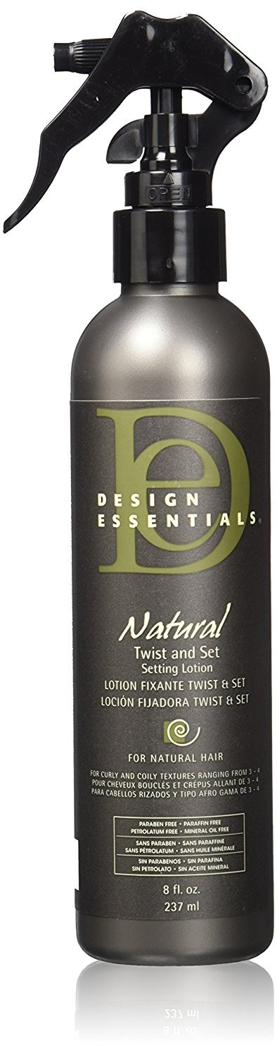 Design Essentials Natural Twist & Set Quick-Dry Setting Lotion w/Strengthening Vitamins & Proteins-Almond & Avocado Collection, 8oz. by Design Essentials