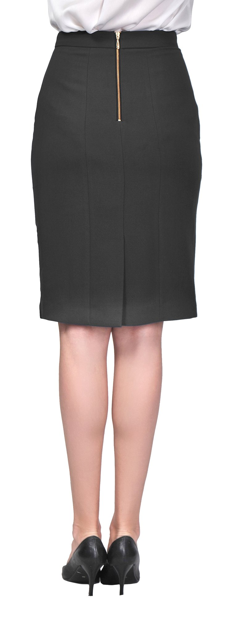 Marycrafts Women's Lined Pencil Skirt 4 Work Business Office 2 black by Marycrafts (Image #5)