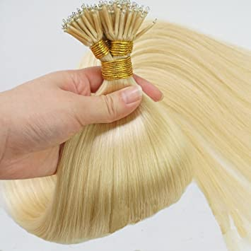 Amazon 50 strands micro nano rings hair straight double 50 strands micro nano rings hair straight double drawn remy human hair extensions 18quot pmusecretfo Images