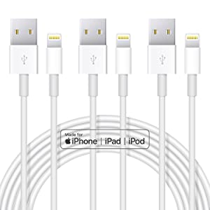 Apple iPhone Charger Cable, 3 Pack Original Lightning to USB Cables Apple MFI Certified 3ft, Fast iPhone Charging Cord for iPhone 11/11Pro/11Max/ X/XS/XR/XS Max/8/7/6/5S/SE