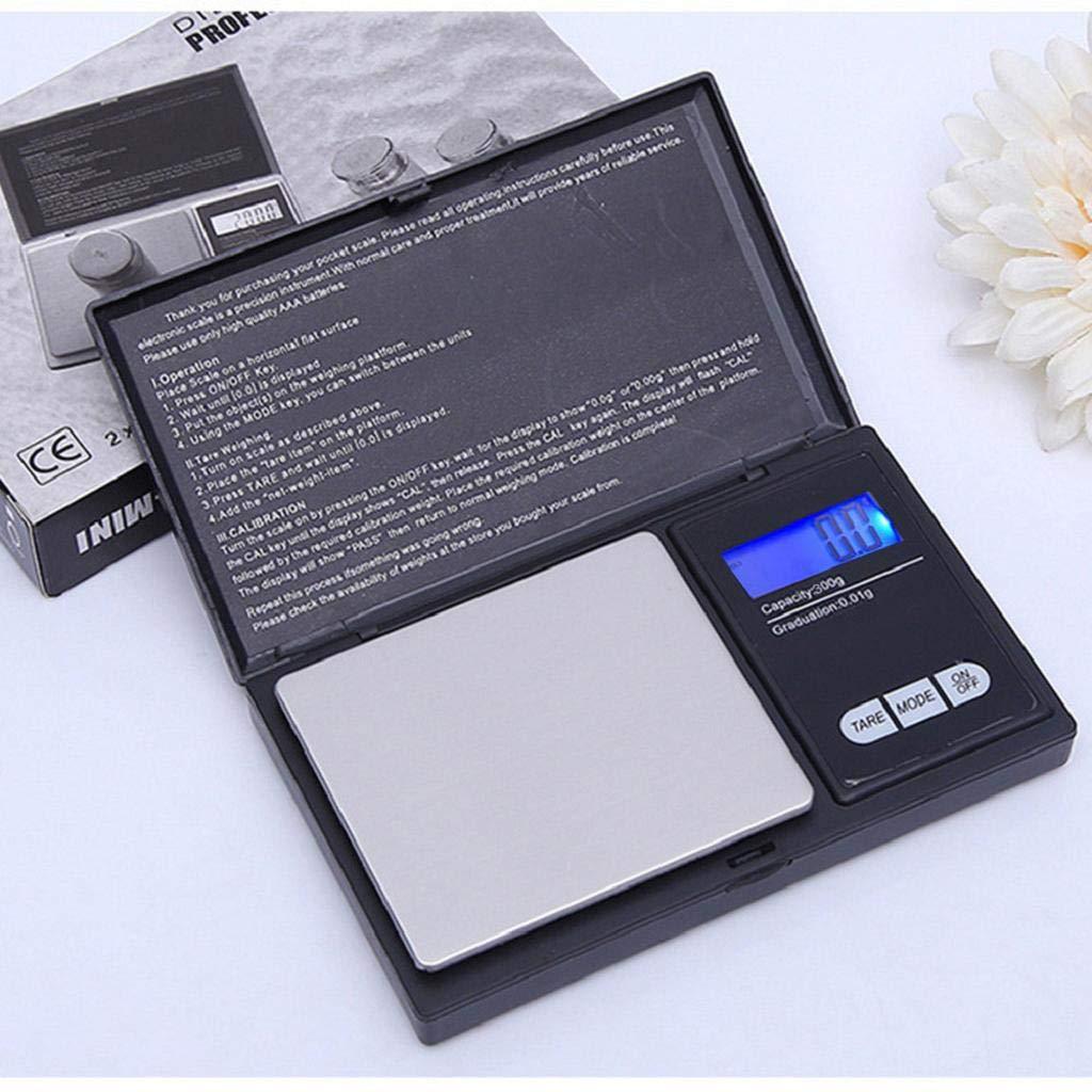 QUICKLYLY Báscula Digital para Cocina de Acero Inoxidable,300g/0.01g, LCD Balanza de Alimentos Multifuncional Escala de Joyas: Amazon.es: Hogar