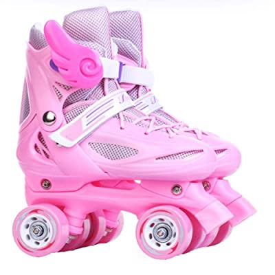 AIAIⓇ Inline Skates Children Boys & Girls Beginners Double Roller Skate Rollerskates All-Wheel Adjustable Skate Shoes: Home & Kitchen