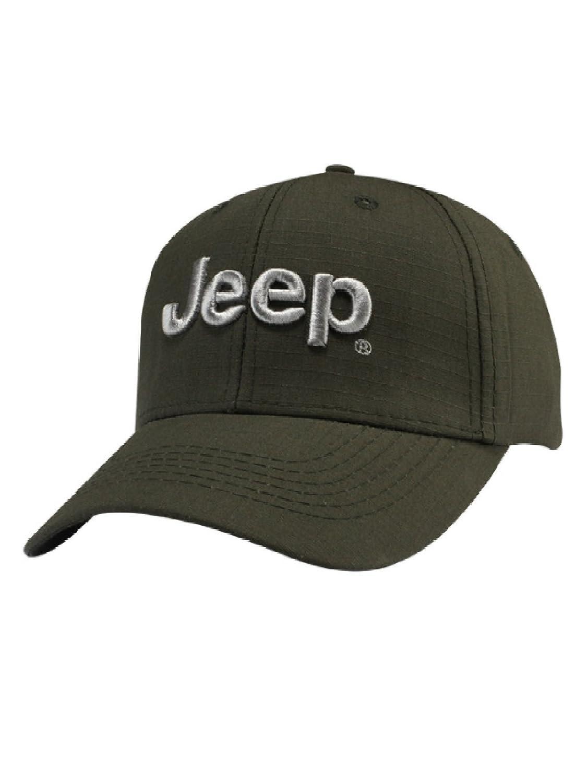 Jeep 3D Logo Cap,Olive Green,Adjustable