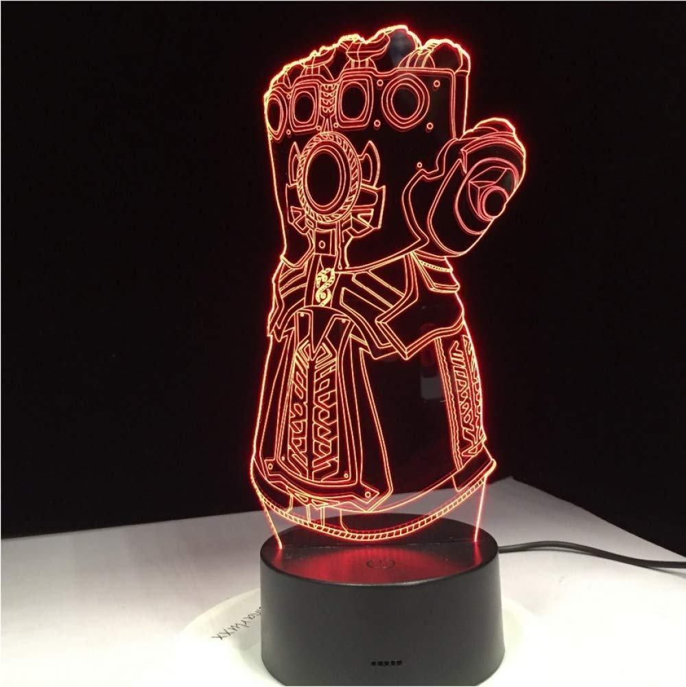 Illusion Led Night Light Gauntlet Infinity War Gloves 3D Night Lights Changing 3D Novelty Light Creative Desk Lamp