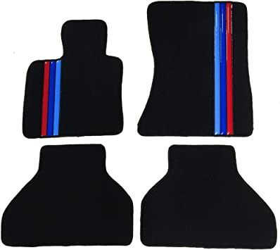 2010-Current Black BMW X3 /& X4 All Weather Rubber Front Floor Mats