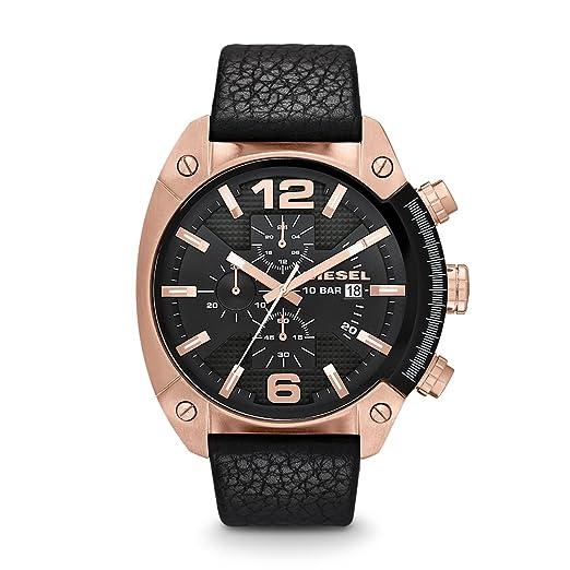 4772675afcd5 Diesel Reloj Analógico para Hombre de Cuarzo con Correa en Cuero DZ4297   Diesel  Amazon.es  Relojes