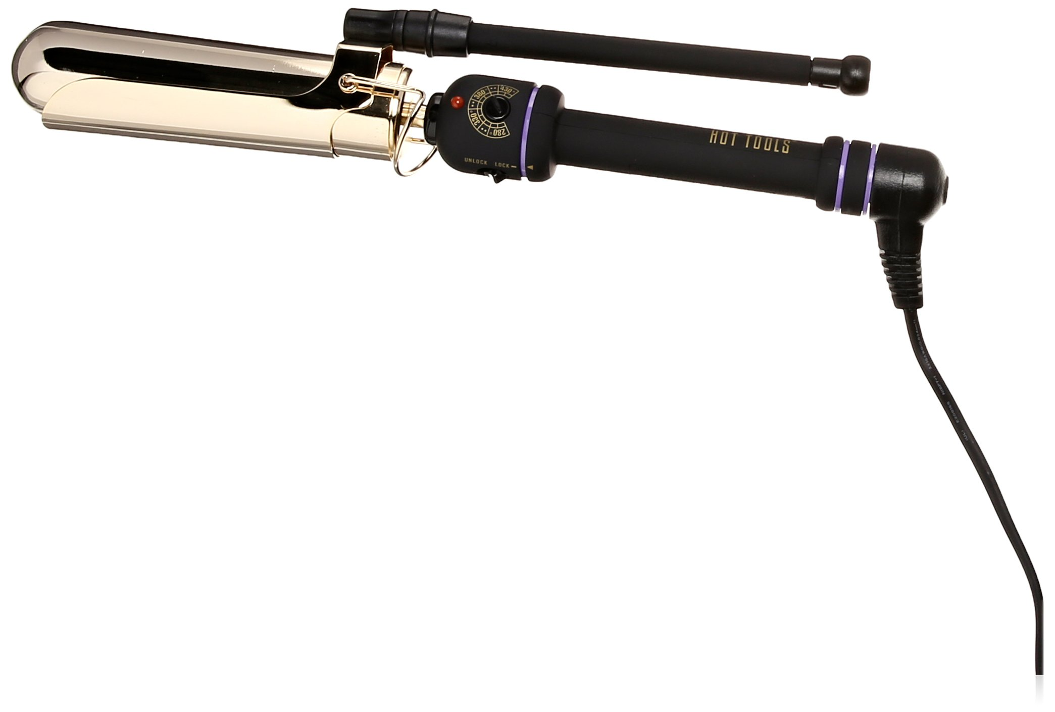 HOT TOOLS 1182 Marcel Curling Iron, Gold/Black, 1 1/2 Inches