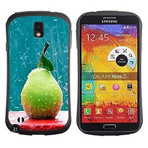 Pulsar iFace Series Tpu silicona Carcasa Funda Case para SAMSUNG Galaxy Note 3 III / N9000 / N9005 , Fruit Macro Rainy Pear