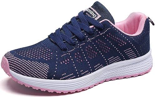 Mengxx Zapatillas para Correr Atléticas con Cordones para Mujer Zapatillas para Caminar Al Aire Libre (