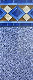 Smartline Mosaic Diamond 24-Foot Round Liner | UniBead Style | 52-Inch Wall Height | 25 Gauge Virgin Vinyl | Designed for Steel Sided Above-Ground Swimming Pools