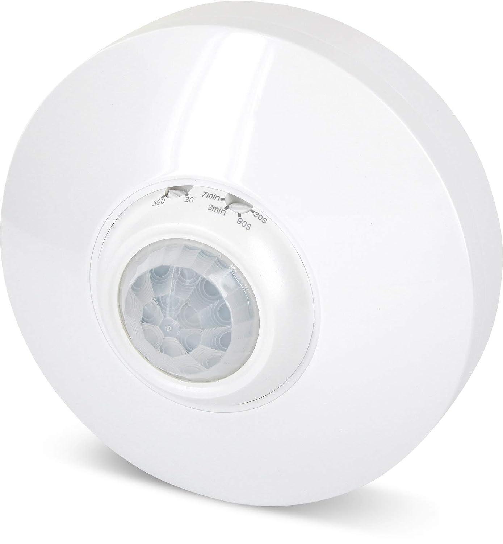 Aufputz infrarrojos Detector de movimiento 360 ° 230 V - con sensor de oscuridad - LED Adecuado a partir de 1 W: Amazon.es: Iluminación