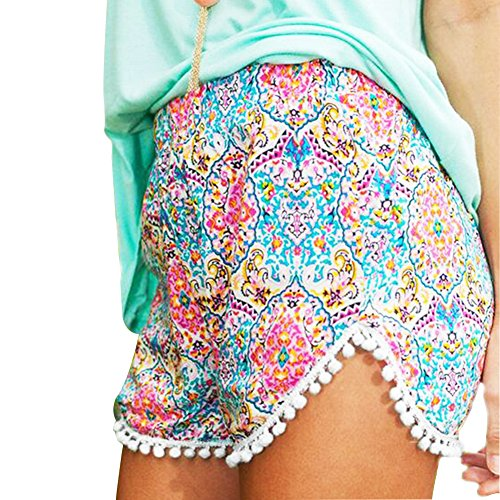 Sunm boutique Women's Shorts Beach Shorts Hot Shorts Hot Pants Casual Shorts Beach Summer Short Trousers Mini Shorts (Small, Pink)