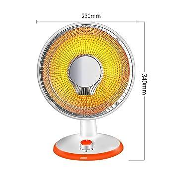 RUIX Calefactor De Bajo Consumo para El Hogar, Calefactor Eléctrico De Oficina, 2 Archivos Ajustables, 300W / 600W,23Cm: Amazon.es: Deportes y aire libre