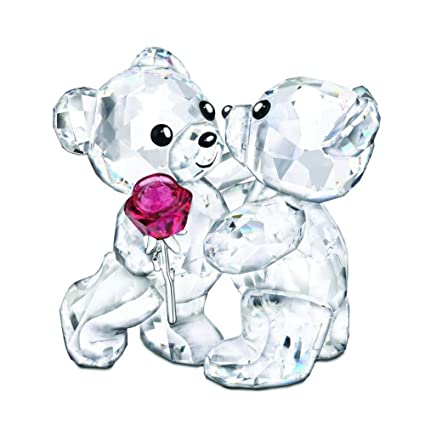 1ff237320f Image Unavailable. Image not available for. Color: 5076625 Swarovski Kris  Bear A Rose For You Figurine