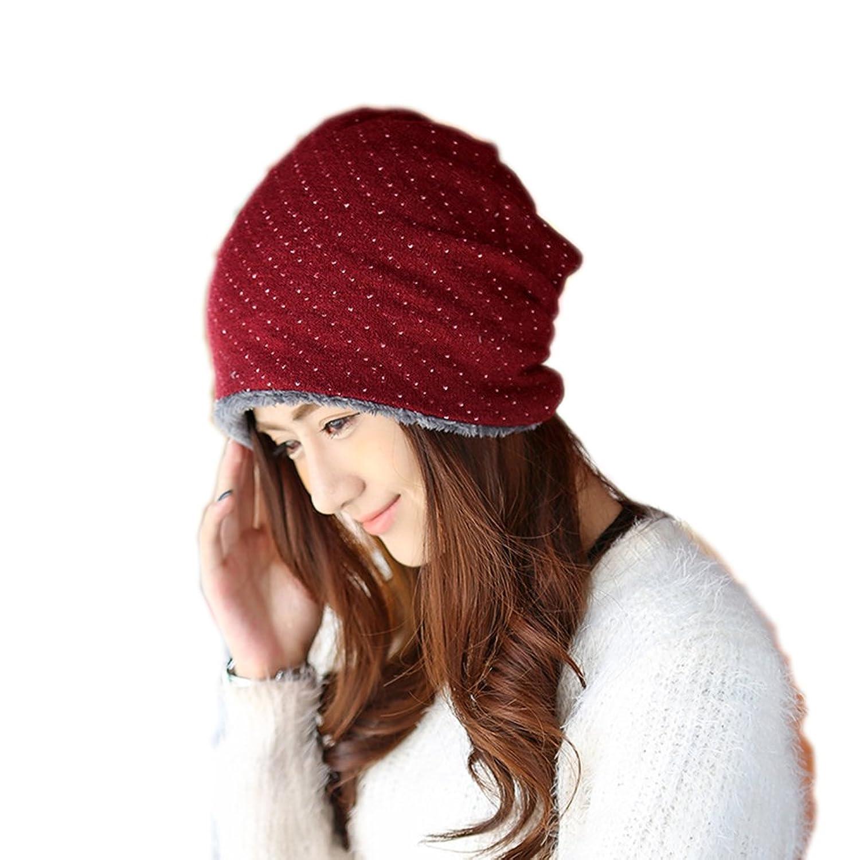 Modelshow Mädchen Damen-Modus Korea-Art Winter-Herbst Sport im Freien Sowie Samt Stricken Gestrickt Hut Skimütze Schädel-Kappe Komischer Hut