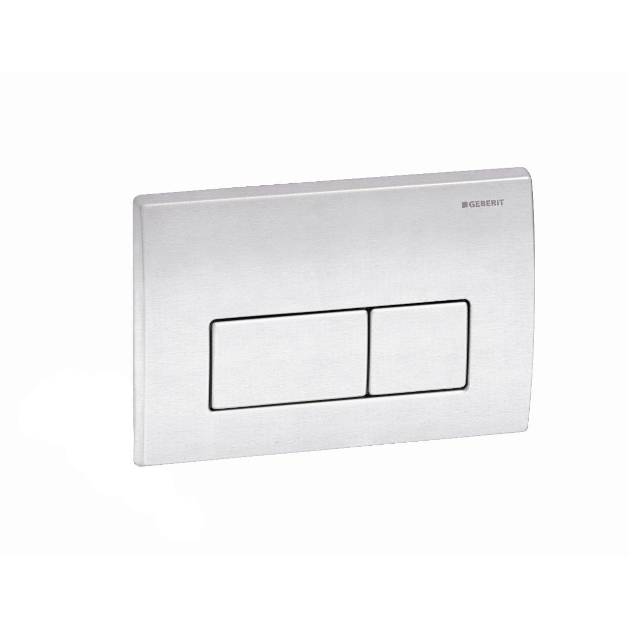 Geberit 115.258.00.1 Kappa50 Dual-Flush Actuator, Brushed Stainless Seel