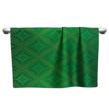 Amazon.com: xixibo Toalla pequeña verde y blanca, toalla de ...